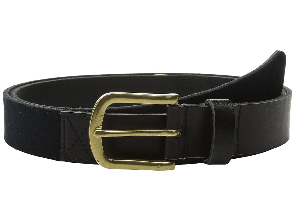 Scotch & Soda - Two-Tone Mixed Leather Suede Belt (Black) Men's Belts