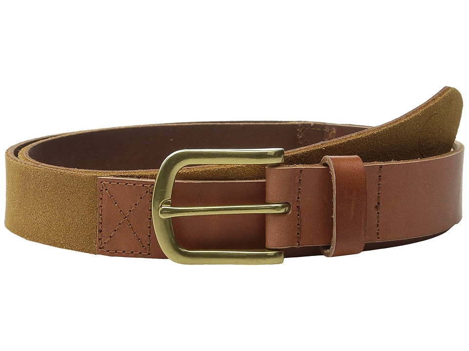 Scotch & Soda - Two-Tone Mixed Leather Suede Belt (Brown) Men's Belts