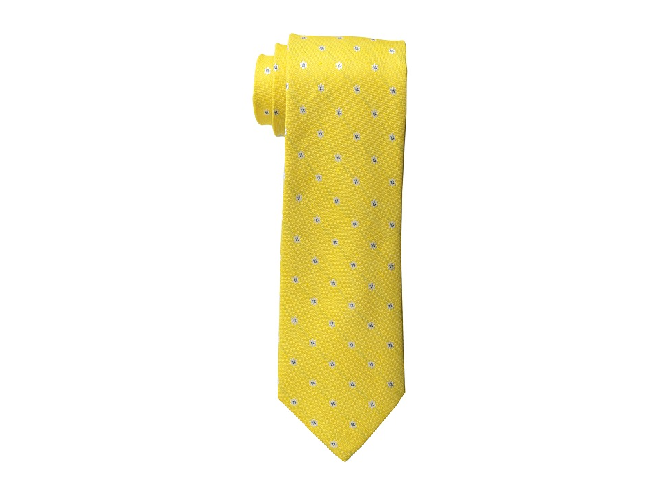 Tommy Hilfiger - Linen Flower Dot Tie (Yellow) Ties