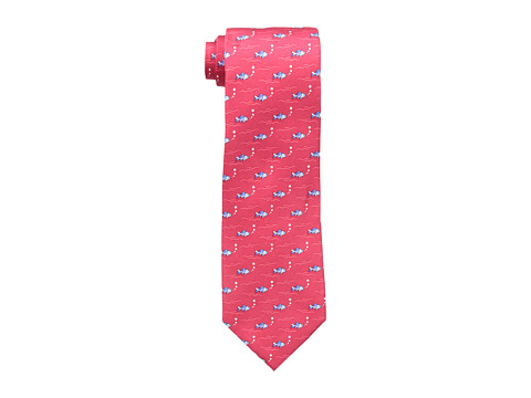 Tommy Hilfiger - Fish Waves Print Tie (Red) Ties