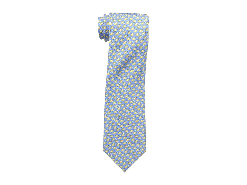 Tommy Hilfiger - Down Stream Print Tie (Blue) Ties