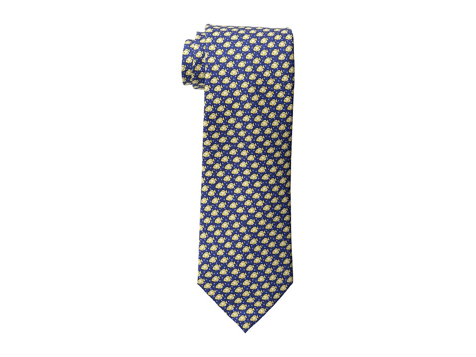 Tommy Hilfiger - Down Stream Print Tie (Navy) Ties