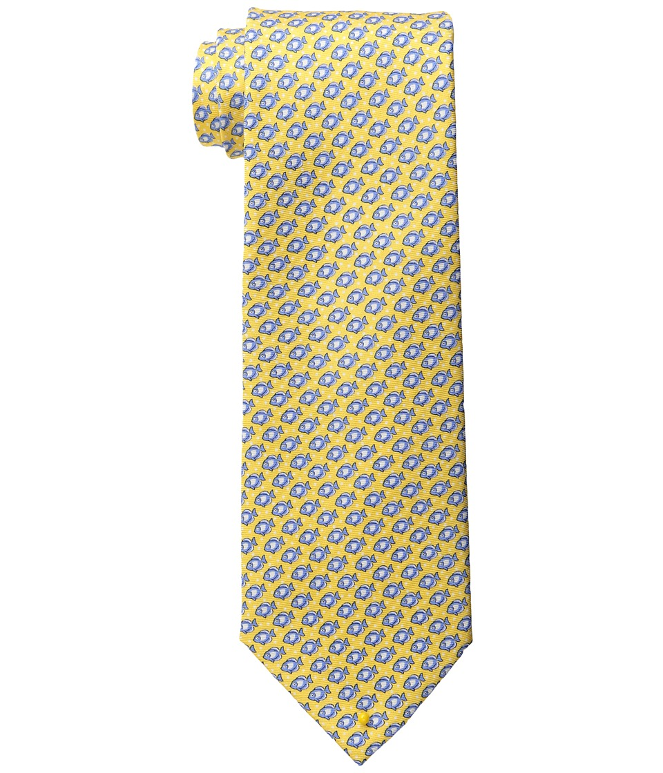 Tommy Hilfiger - Down Stream Print Tie (Yellow) Ties