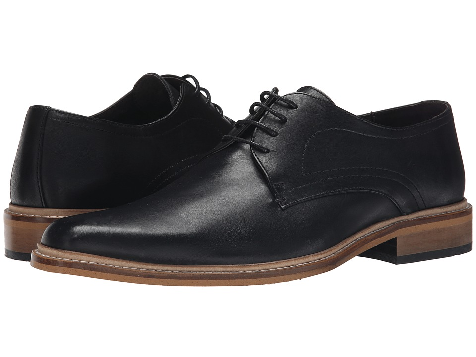 Dune London - Rotterdam (Black Leather) Men's Lace up casual Shoes