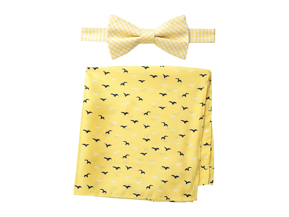 Tommy Hilfiger - Seagull Gingham Bowtie Pocket Square Set (Yellow) Ties