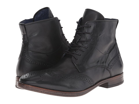 Dune London - Cobbler (Dark Grey Leather) Men's Lace-up Boots