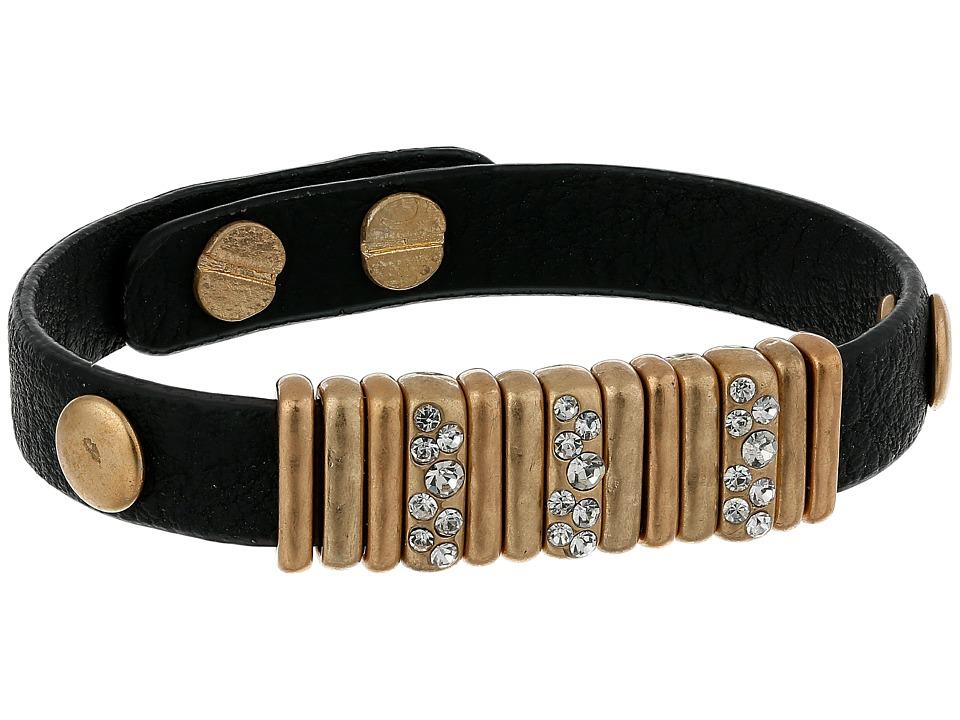 The Sak - Skinny Pave Slider Bracelet (Black/Gold) Bracelet