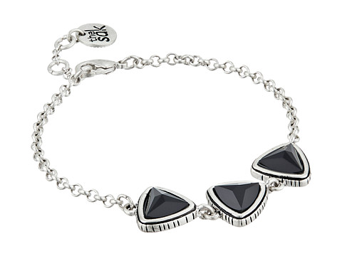 The Sak - Stone Triangle Line Bracelet (Black/Silver) Bracelet