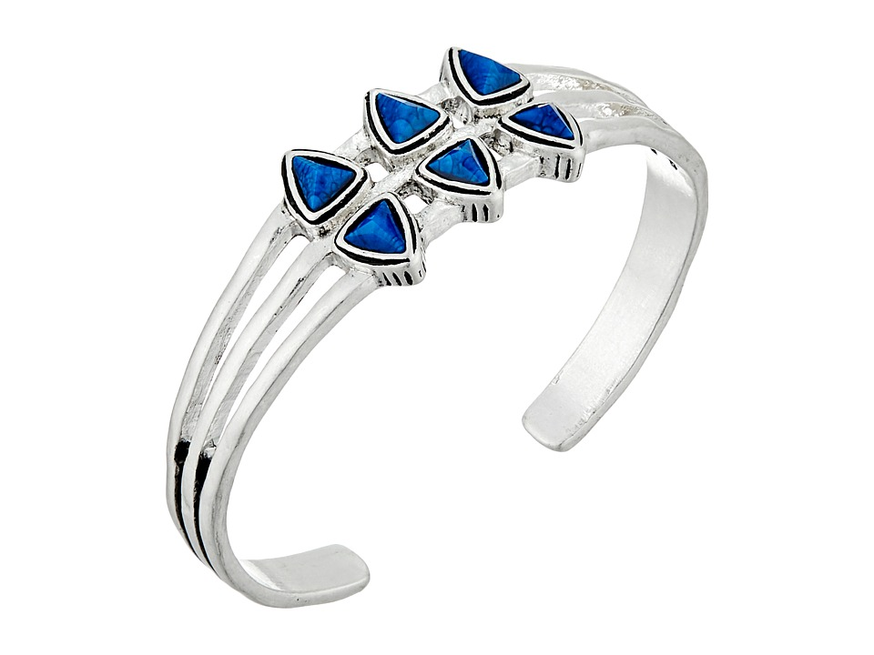 The Sak - Stone Triangle Cuff Bracelet (Blue) Bracelet
