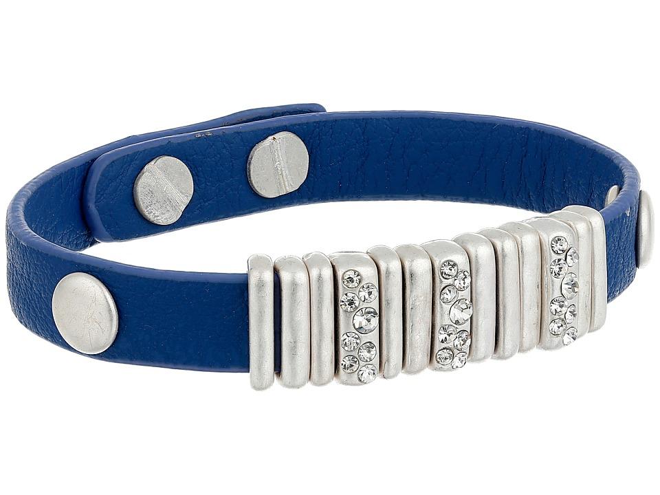 The Sak - Skinny Pave Slider Bracelet (Blue) Bracelet