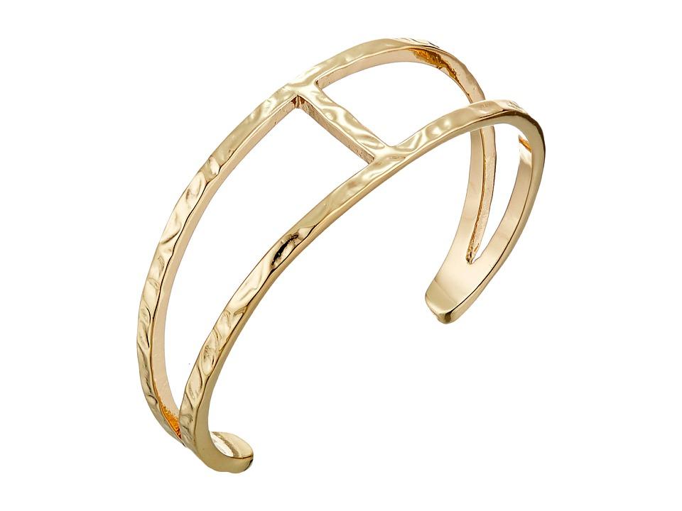 Sam Edelman - Crinkle Metal Cuff Bracelet (Gold) Bracelet
