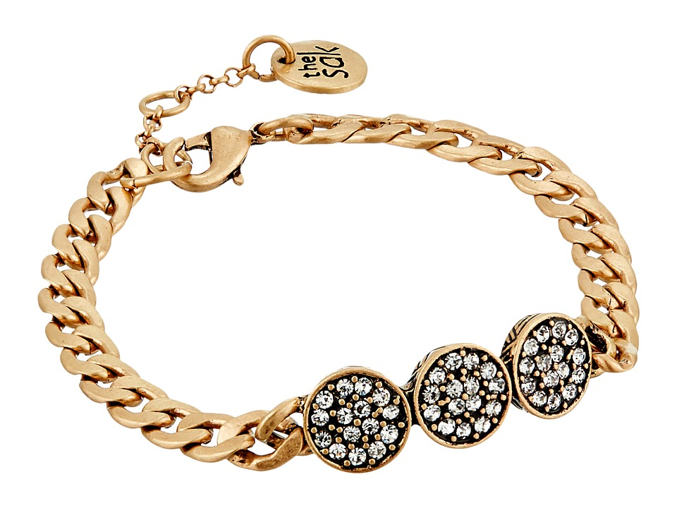 The Sak - Pave Circle Line Bracelet (Gold) Bracelet