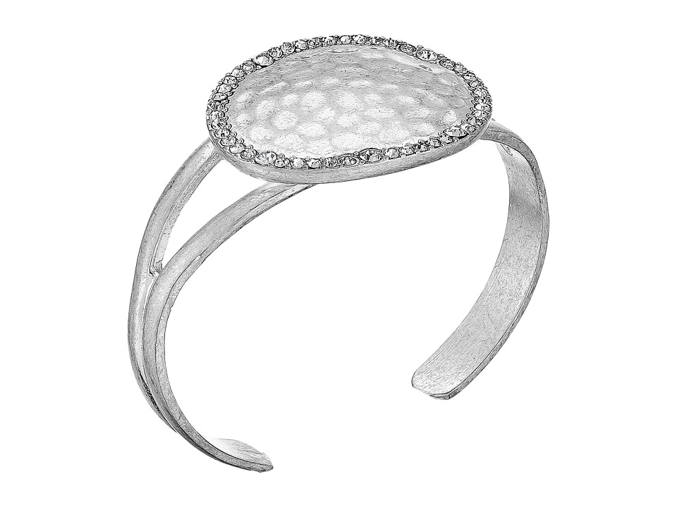 The Sak - Pave Disc Cuff Bracelet (Silver) Bracelet