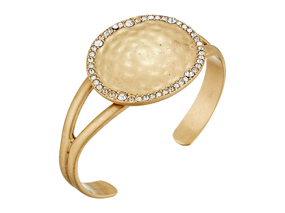 The Sak - Pave Disc Cuff Bracelet (Gold) Bracelet