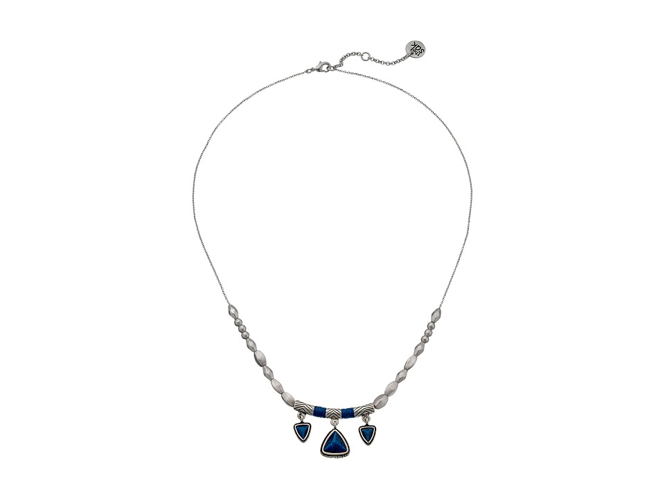 The Sak - Triangle Frontal Necklace 18 (Blue) Necklace