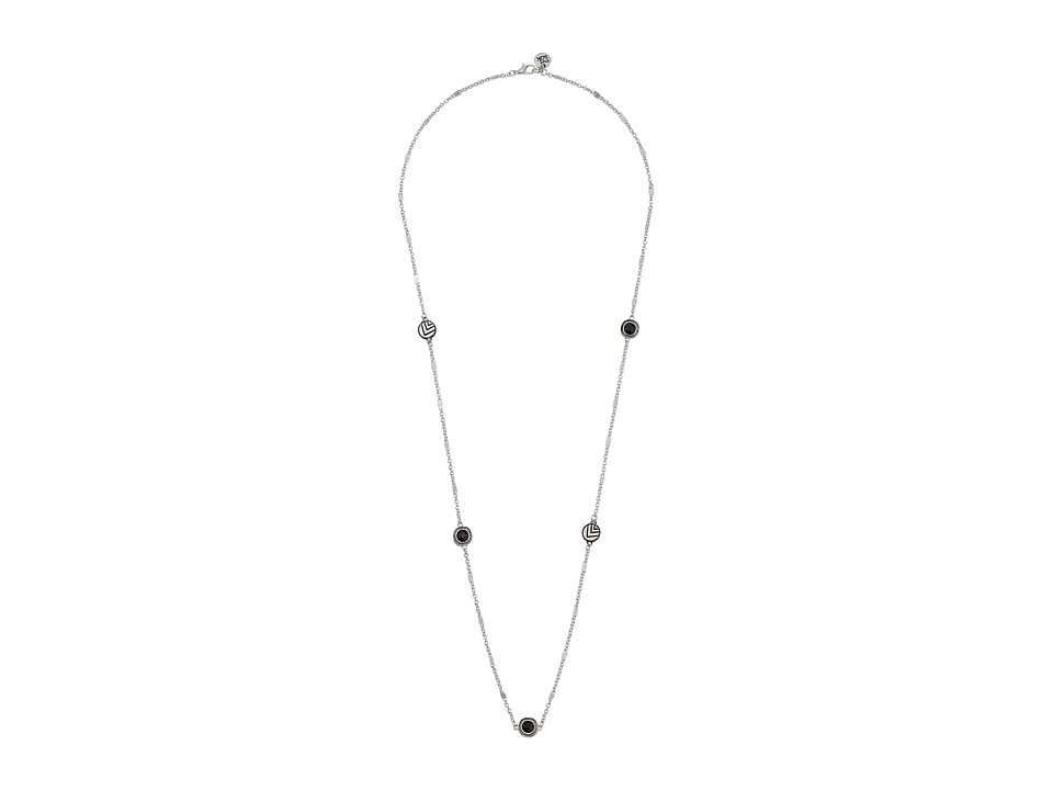 The Sak - Stone Station Necklace 30 (Black/Silver) Necklace