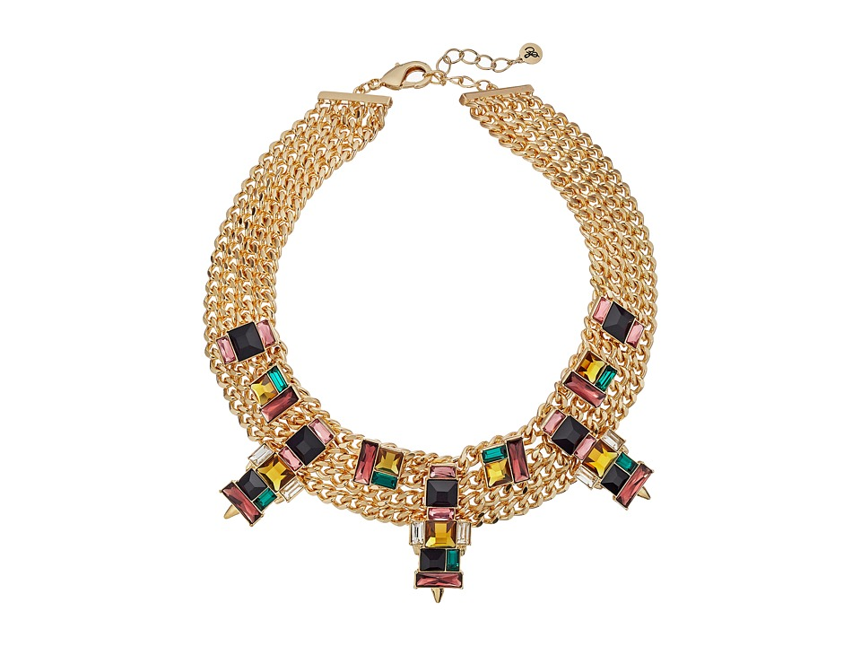 Sam Edelman - Chain Stone Collar Necklace (Gold/Multi) Necklace