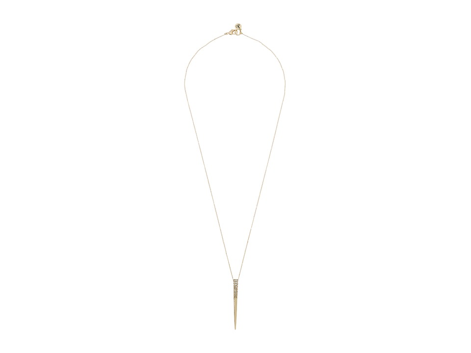 Sam Edelman - Pave Spike Pendant 28 Necklace (Gold) Necklace