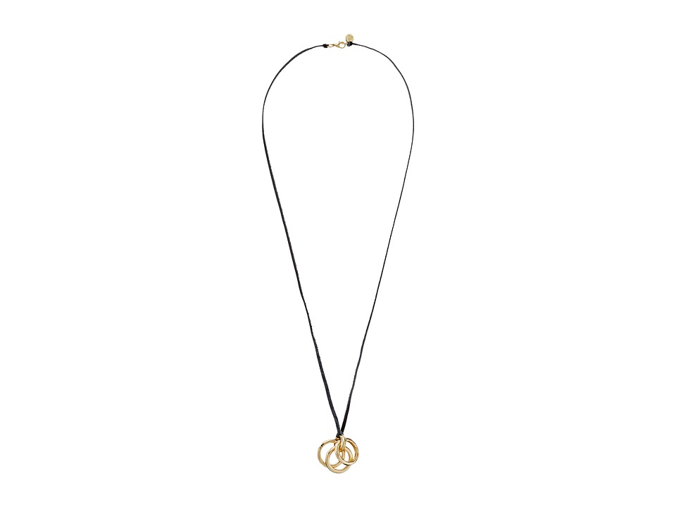 Sam Edelman - Multi Ring Pendant 50 Necklace (Gold) Necklace