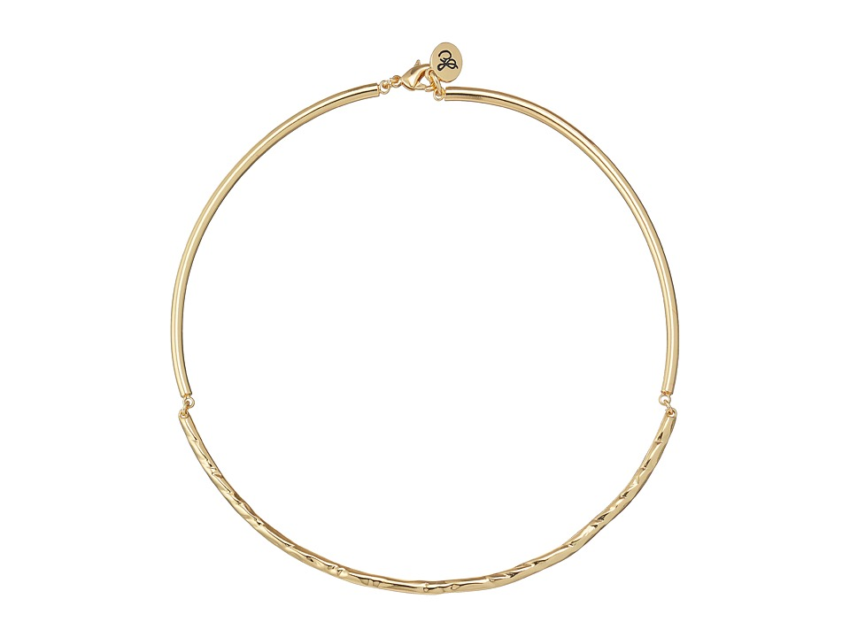Sam Edelman - Crinkle Hinge Collar 15 Necklace (Gold) Necklace