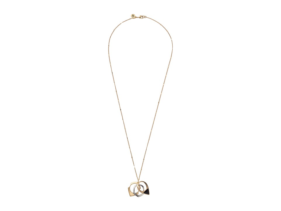 Sam Edelman - Geo Rings Pendant 28 Necklace (Two-Tone) Necklace