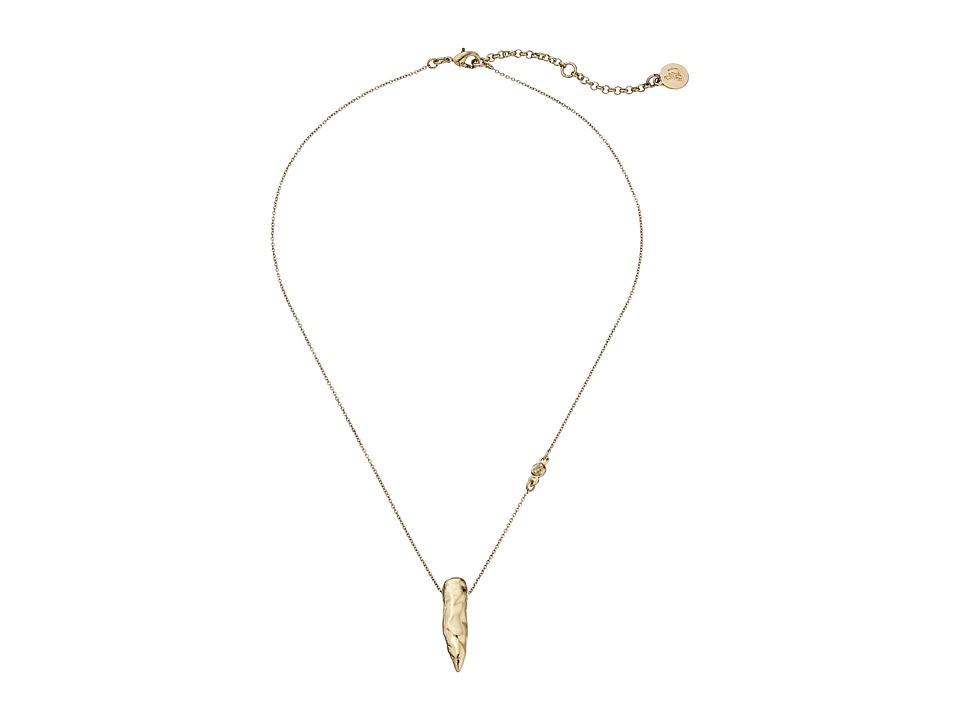 Sam Edelman - Small Nugget Pendant Necklace (Gold) Necklace