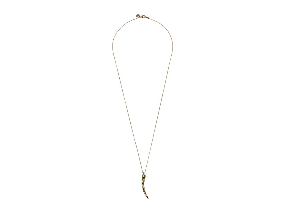 Sam Edelman - Snake Horn Pendant 30 Necklace (Gold) Necklace