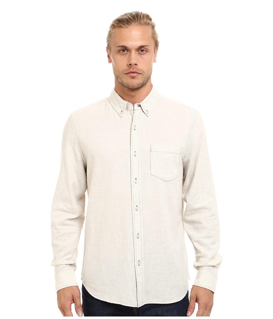 AG Adriano Goldschmied - Heather Twill Flannel Nibus Shirt (Powder White) Men