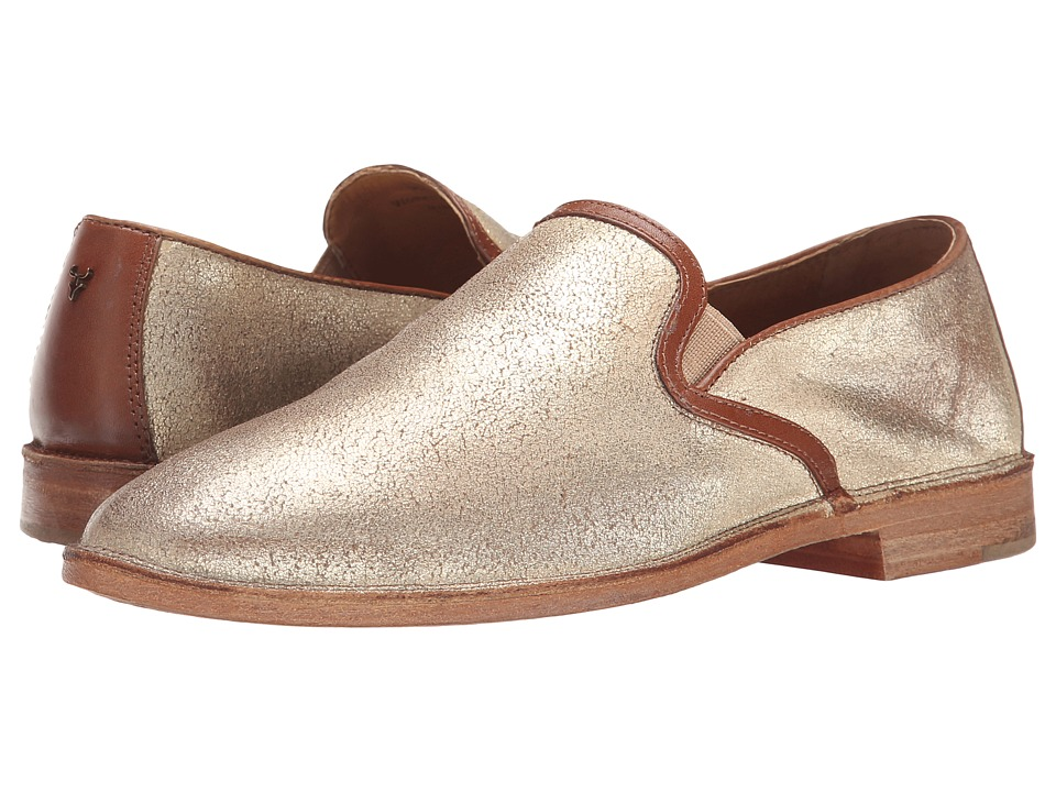 Trask - Ali (Gold Italian Brush-Off/Teak Calf) Women's Shoes