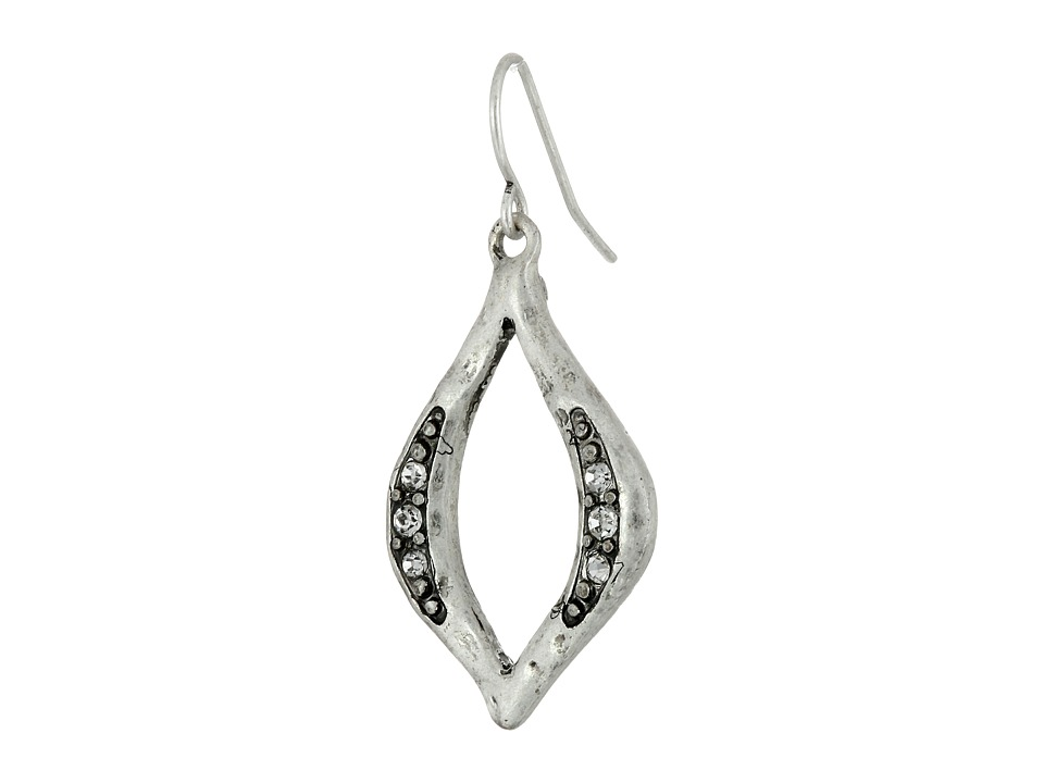 The Sak - Open Pave Drop Earrings (Silver) Earring