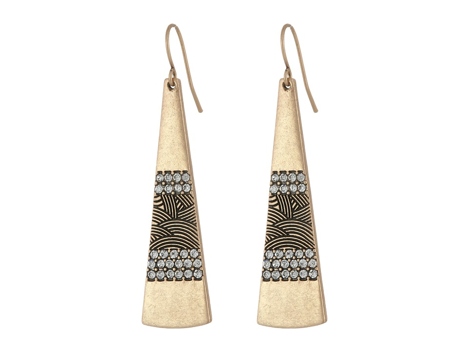The Sak - Pave Paddle Drop Earrings (Gold) Earring