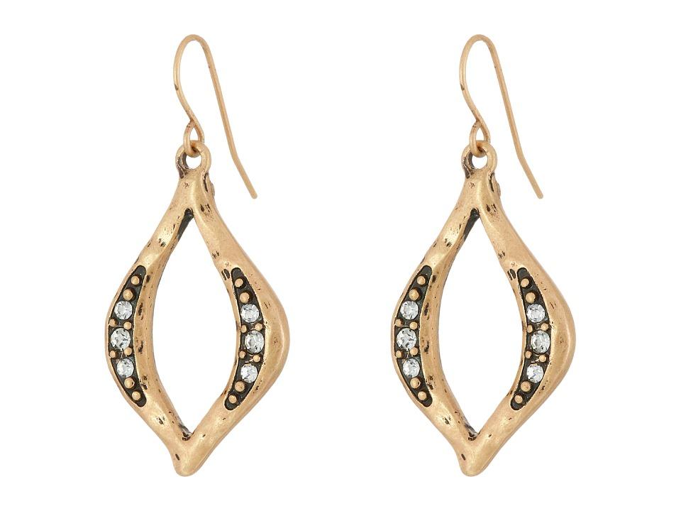 The Sak - Open Pave Drop Earrings (Gold) Earring