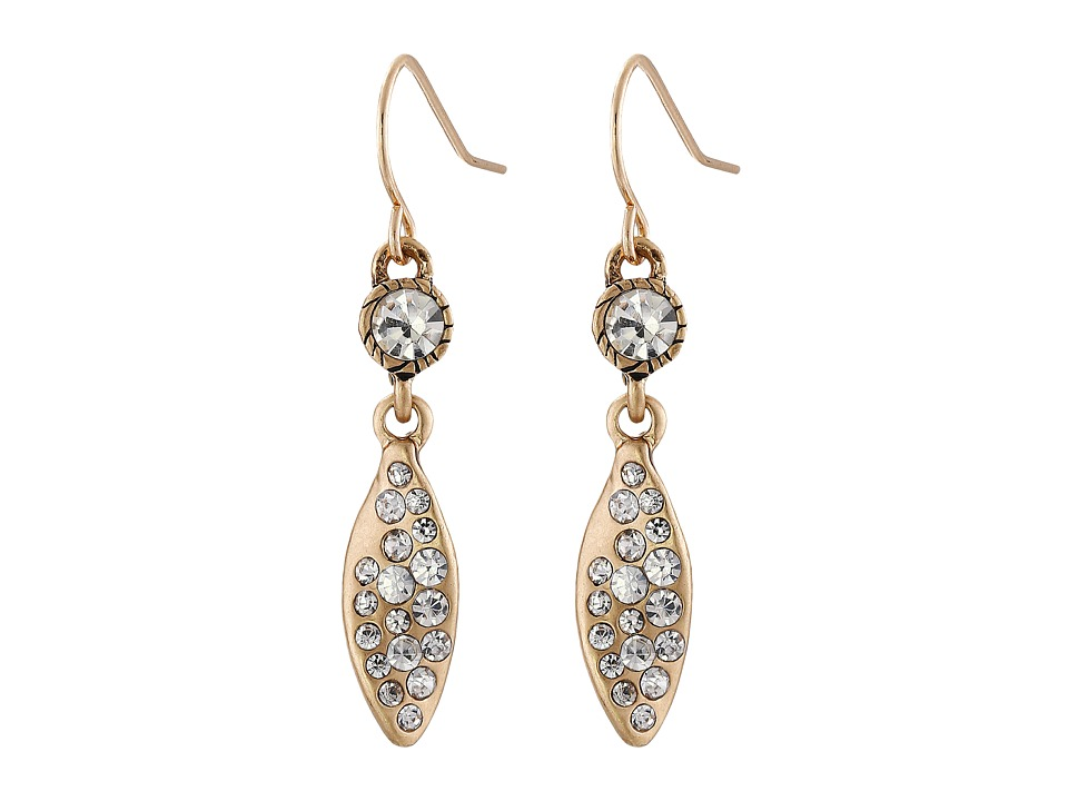 The Sak - Small Pave Leaf Earrings (Gold) Earring