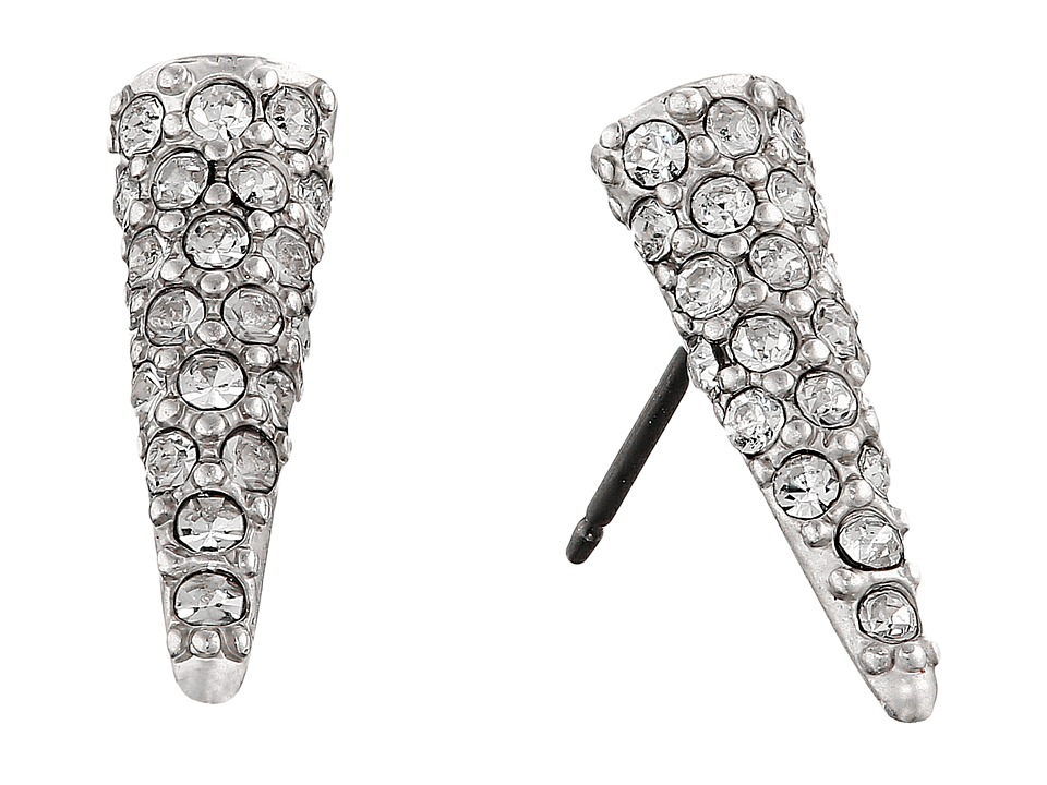 Sam Edelman - Pave Spike Stud Earrings (Rhodium/Crystal) Earring