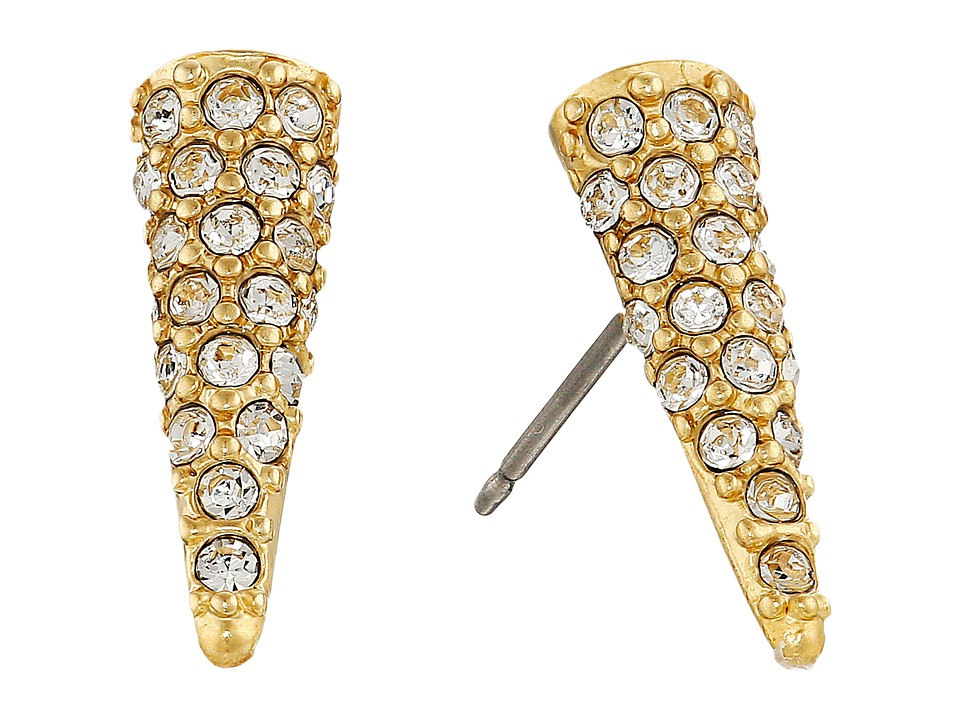 Sam Edelman - Pave Spike Stud Earrings (Gold/Crystal) Earring
