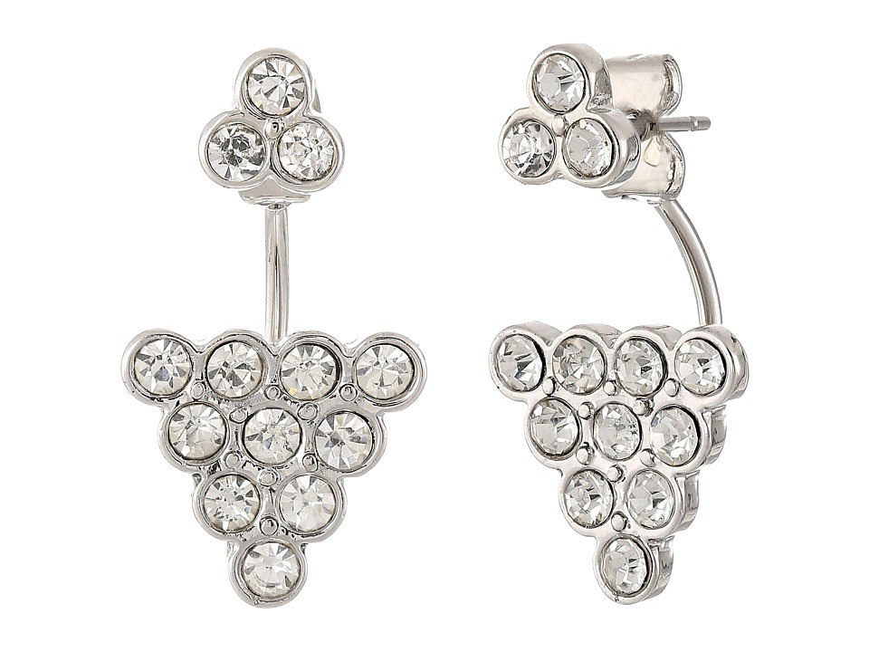 Sam Edelman - Stone Cluster Floater Earrings (Rhodium/Crystal) Earring