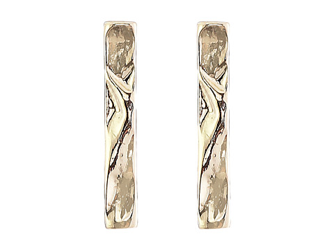 Sam Edelman - Crinkle Bar Stud Earrings (Gold) Earring