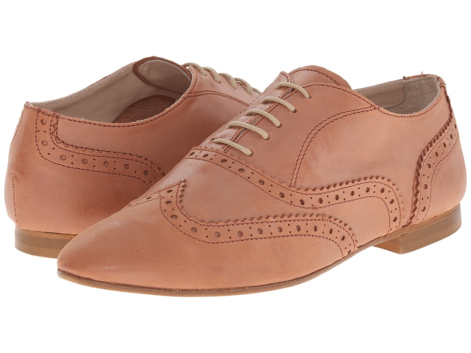 Massimo Matteo - Donatella (Cuoio) Women's Lace Up Wing Tip Shoes