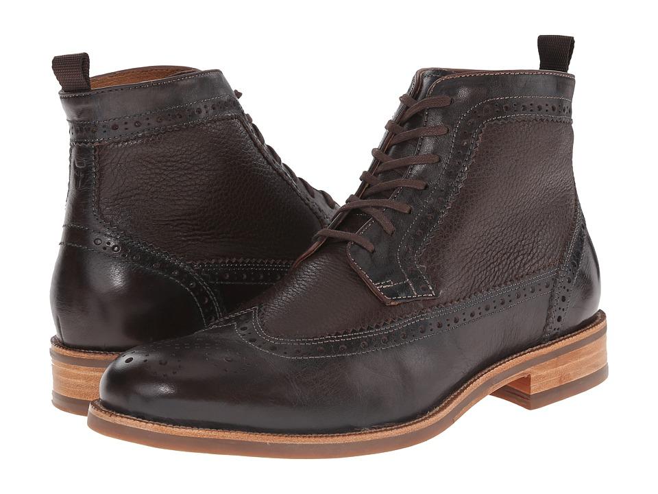 Trask - Fallon (Bourbon Italian Brush-Off Steer/Brown Norwegian Elk) Men's Dress Boots