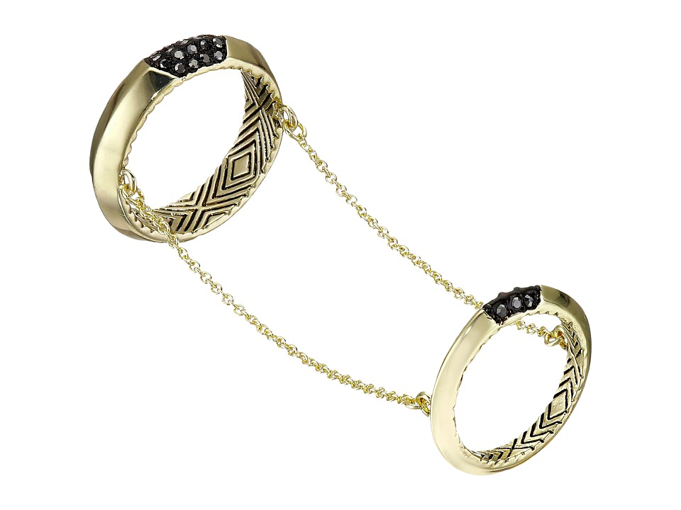 House of Harlow 1960 - Modern Revival Chain Ring (Gold) Ring