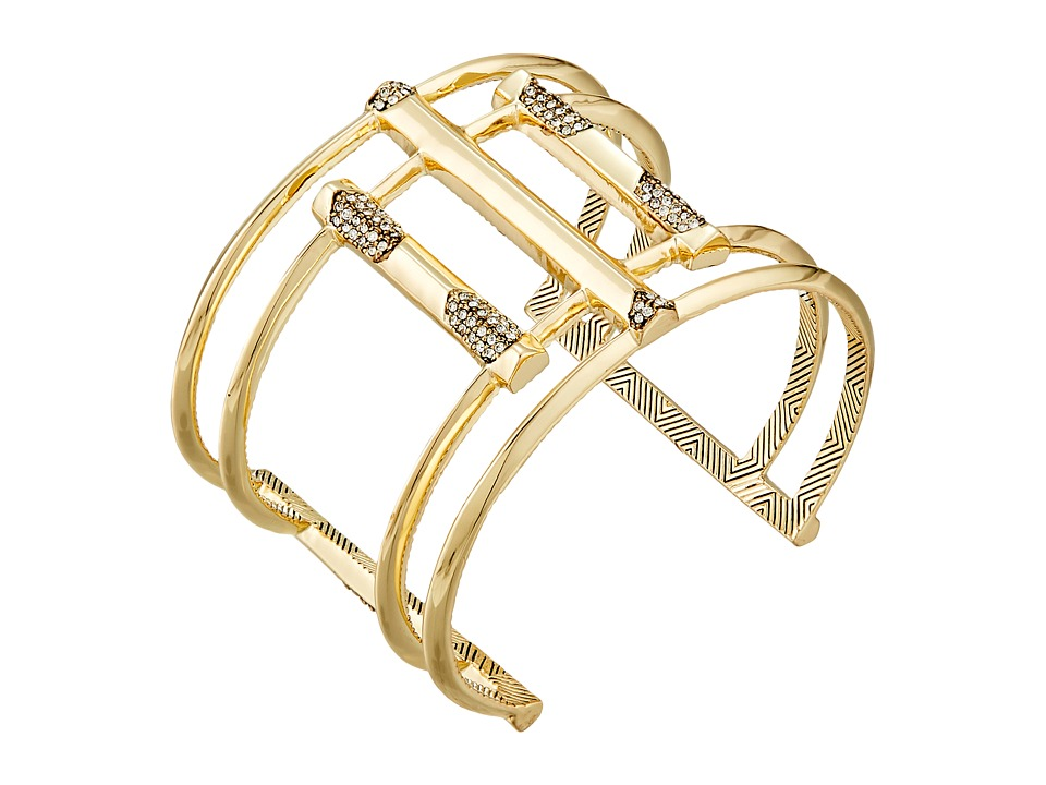 House of Harlow 1960 - Defined Deco Cuff Bracelet (Gold) Bracelet