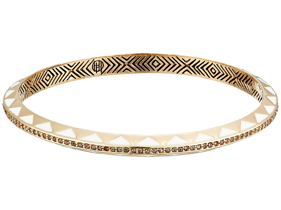 House of Harlow 1960 - Spectrum Bangle Bracelet (Gold/White) Bracelet