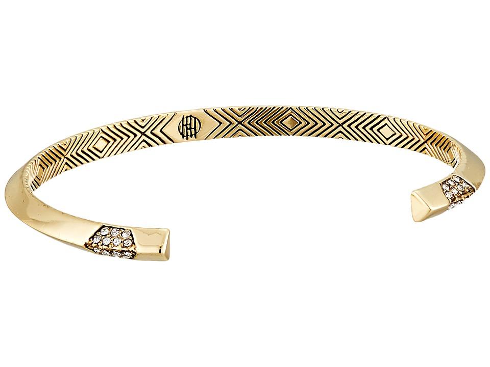 House of Harlow 1960 - Modern Revival Cuff Bracelet (Gold) Bracelet