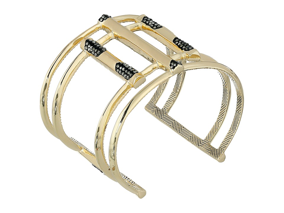 House of Harlow 1960 - Defined Deco Cuff Bracelet (Gold 1) Bracelet