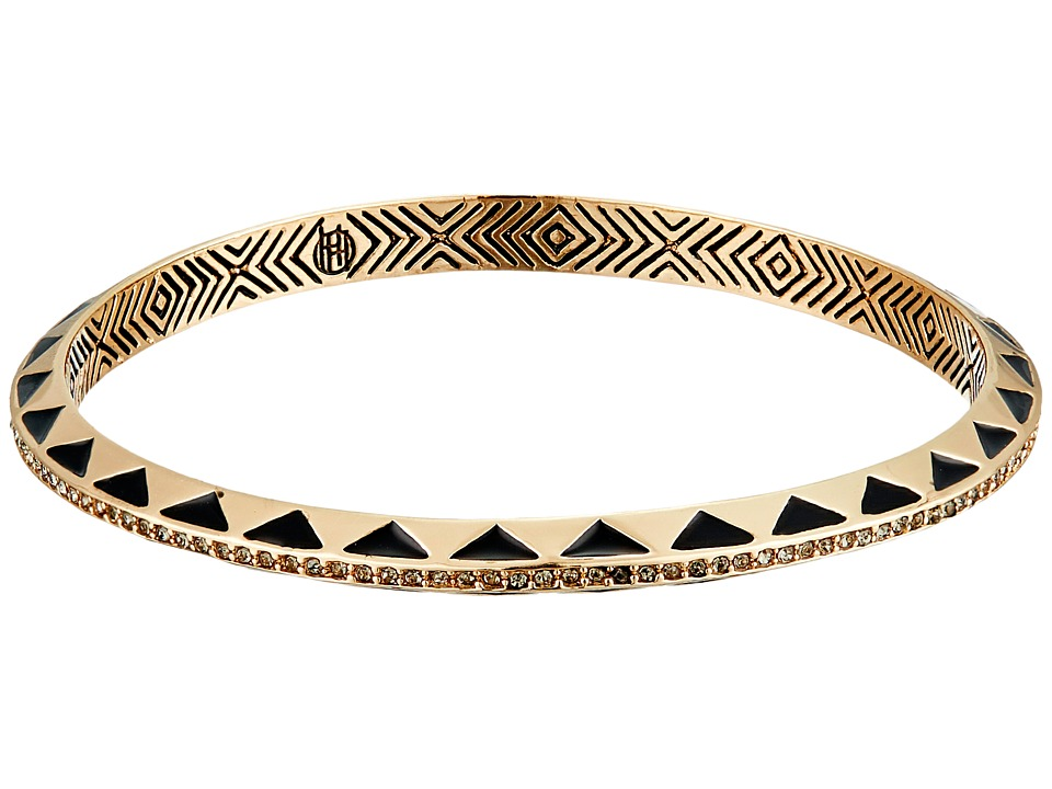 House of Harlow 1960 - Spectrum Bangle Bracelet (Gold/Black) Bracelet
