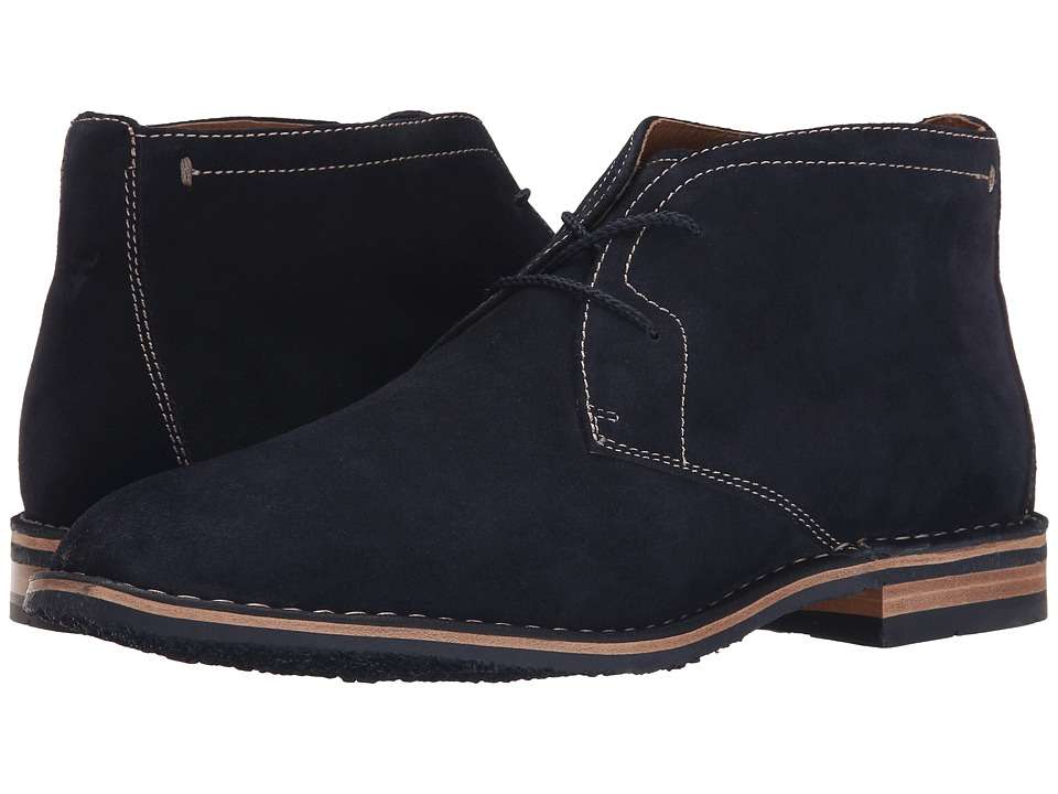 Trask - Brady (Navy Water Resistant Suede) Men's Shoes
