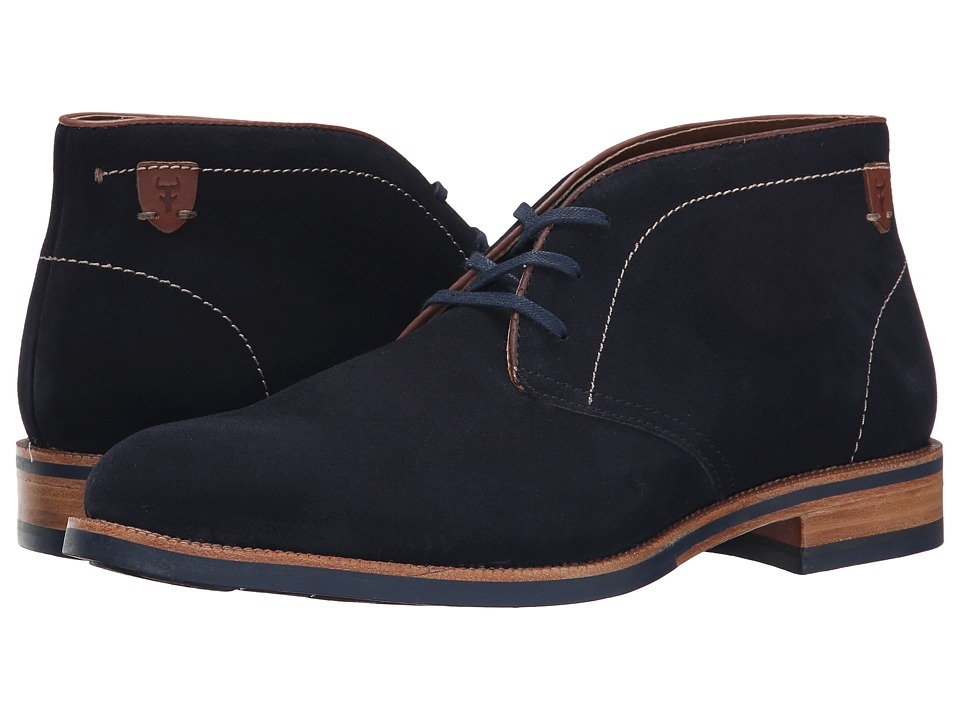 Trask - Flint (Navy Water Resistant Suede) Men's Lace-up Boots
