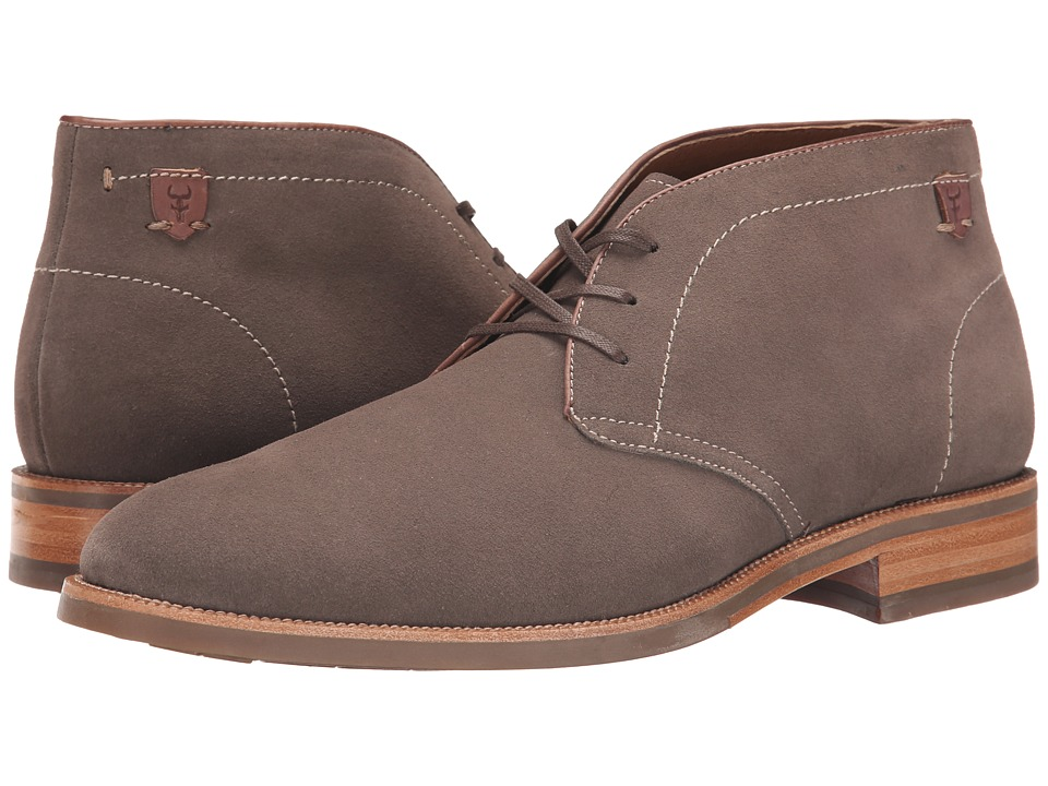 Trask - Flint (Gray Water Resistant Suede) Men's Lace-up Boots