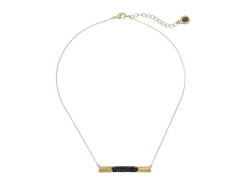 House of Harlow 1960 - Modern Revival Bar Necklace (Gold) Necklace