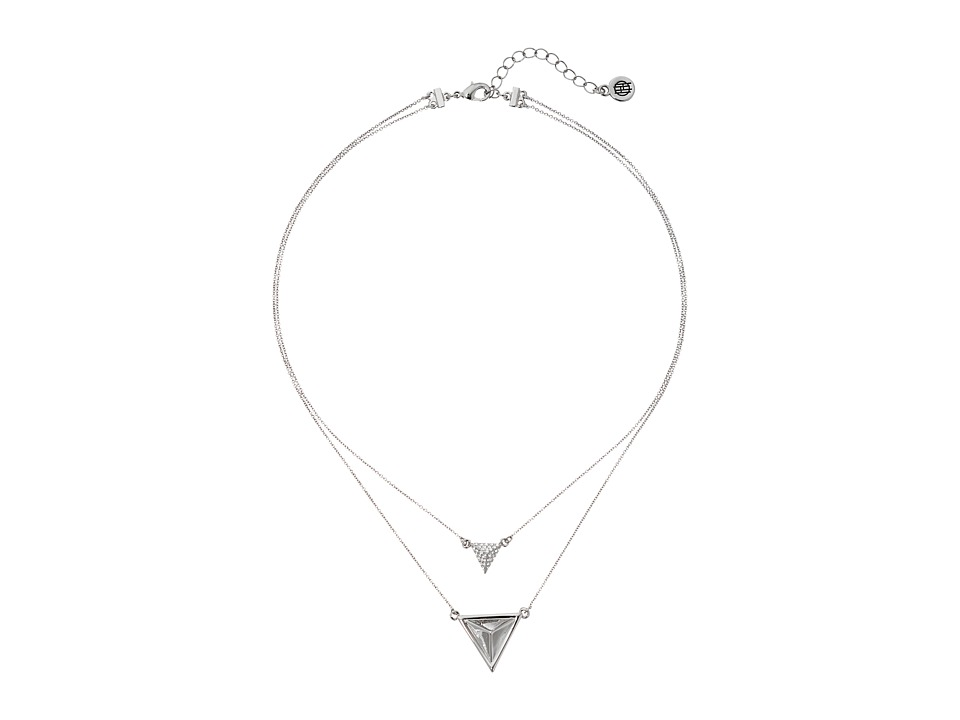 House of Harlow 1960 - Temple Pendant Necklace (Silver) Necklace